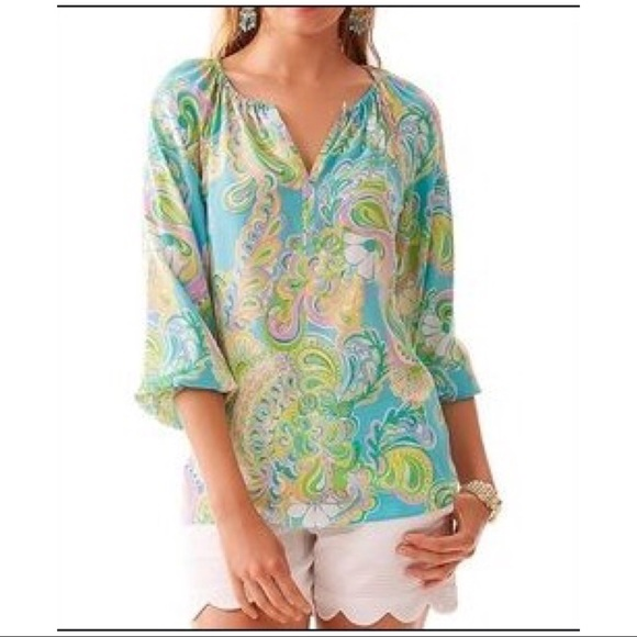 Lilly Pulitzer Tops - NEW Lilly Pulitzer Size XS Sarabeth Blouse